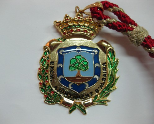 Medalla de cuello del ayuntamiento de Albaida
